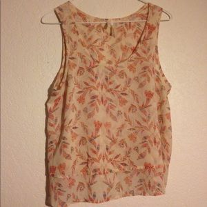 Frenchi artistic leaf patterned tank top